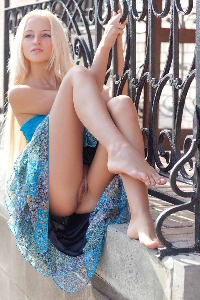 Long hair skinny blonde
