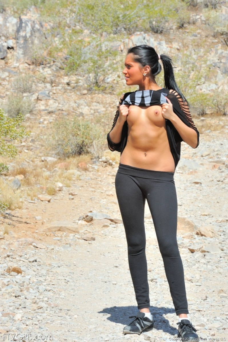 Ftv Giselle Strips Naked On The Trail
