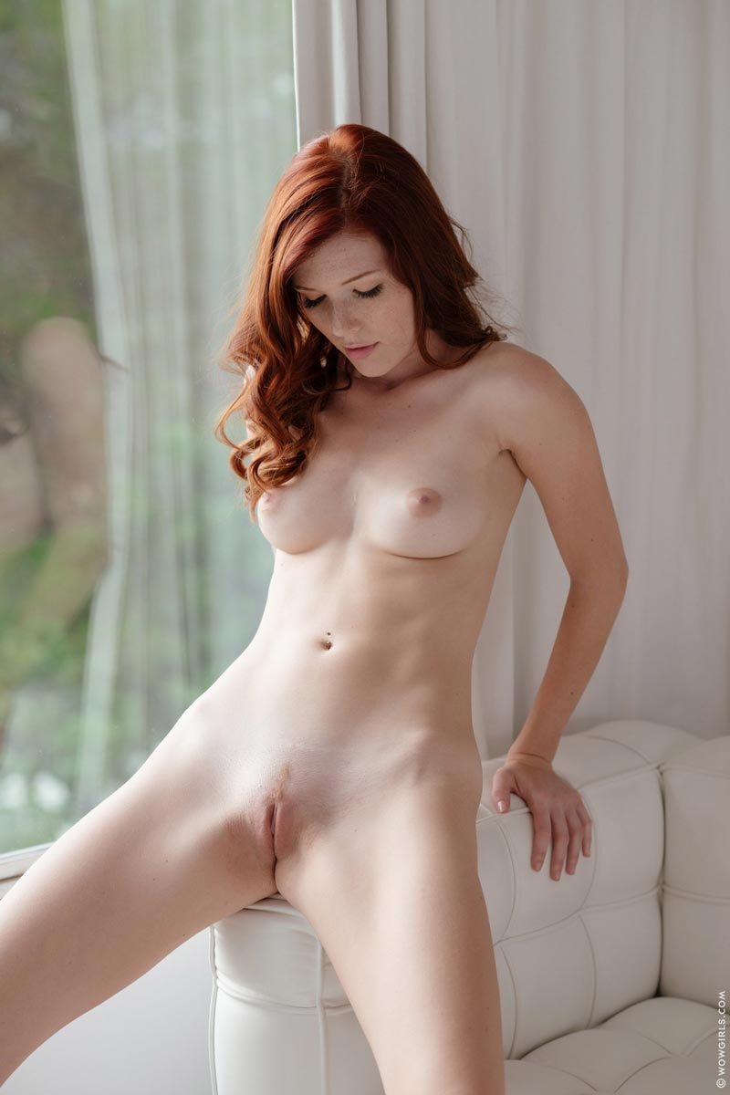 Busty redhead in nylons uses her tits hands and feet 4