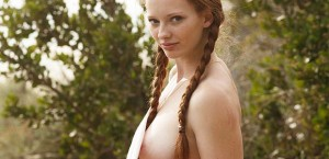 busty-redhead-in-cutoffs