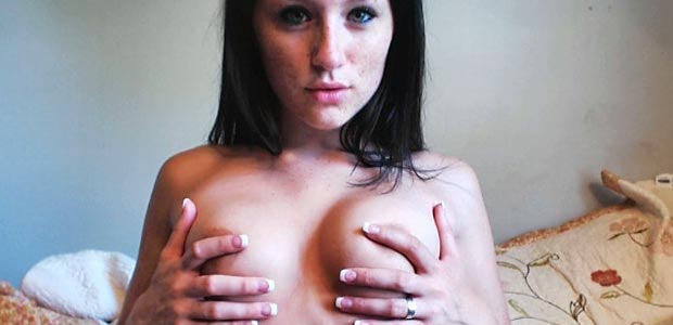 freckles-plays-with-her-perky-breasts