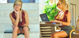 FTV Kennedy as a hot secretary