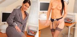 Melissa Mendiny sexy secretary